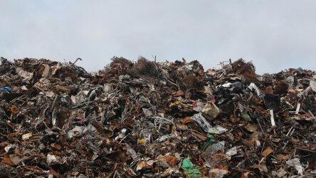 Mountain Of Garbage Dump Plastics Metals